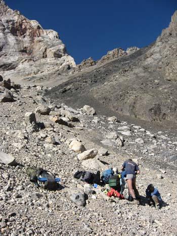 Фанские горы, пер.МАК на спуске